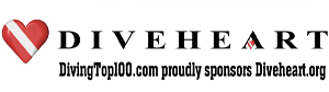 Diveheart diving top 100 banner