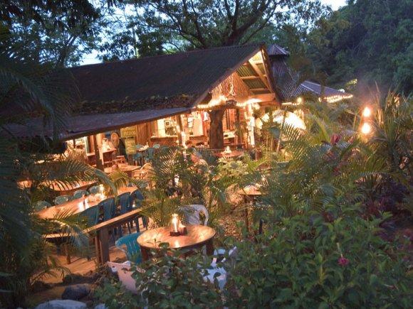 Mango Inn at night