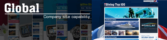 Global Site Capability, Advertising with Diving Top 100